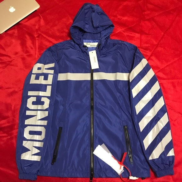 Moncler x off white rain coat NWT
